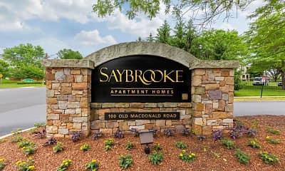 Community Signage, Saybrooke Apartments, 2