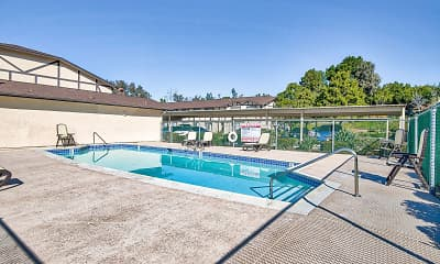 Pool, Pacific View Apartments, 1