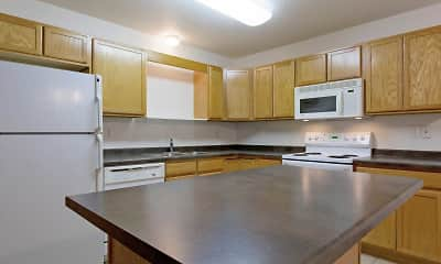 Kitchen, The Woods Apartments, 1