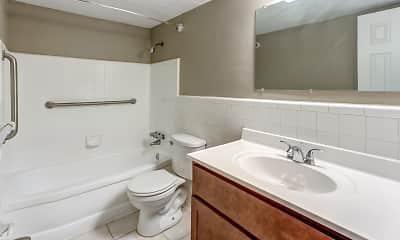 Bathroom, Riverwalk Apartments, 2