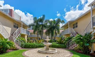 Courtyard, Riverwalk Apartments, 1