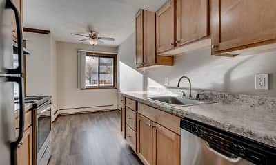 Kitchen, Shelard Village Apartments, 1