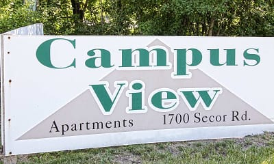 Community Signage, Campus View Apartments, 2
