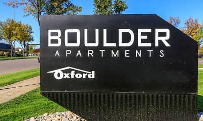 Community Signage, Boulder Apartments, 2