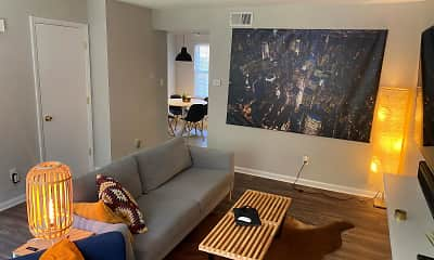 Living Room, Rolling Hills Townhomes, 0