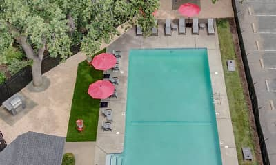 view of pool with a yard, Gateway Apartments, 2