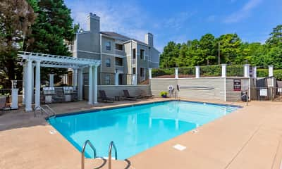Pool, Bridges At Mallard Creek Apartment Homes, 1