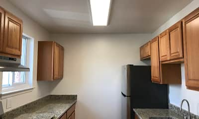 Kitchen, Olde Post Mall Apartments, 2