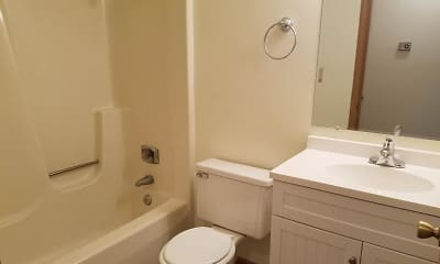 Bathroom, Park Place Apartments, 2