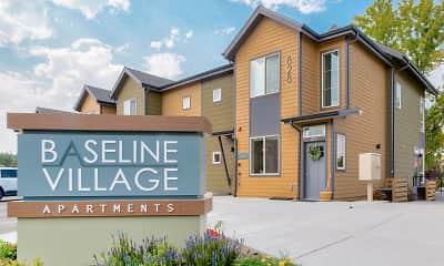 Community Signage, Baseline Village Apartments, 2