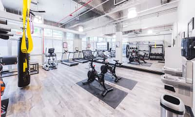 Fitness Weight Room, Wells Place Luxury Apartments, 2