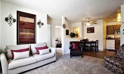 Living Room, Fountain Oaks, 1