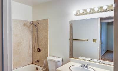 Bathroom, Ridgewood Apartments, 2