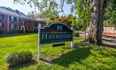 Community Signage, Highland at Haymount, 2