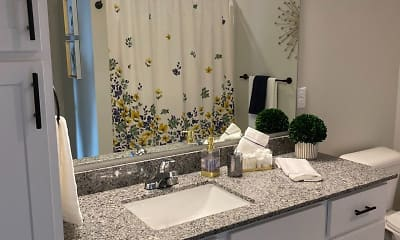 Bathroom, Urbana Court Apartments, 2