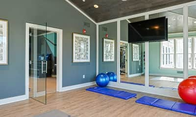 Fitness Weight Room, Haddon Towne Center, 2