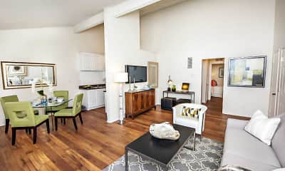 Living Room, Oakview Apartments, 1