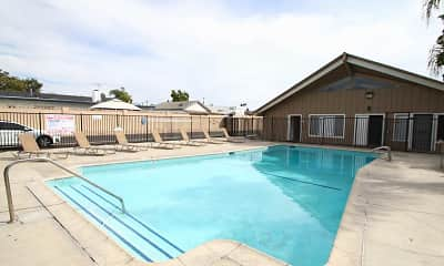 Pool, Anaheim Cottages, 1