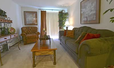 Living Room, Bedford Green Apartments, 1