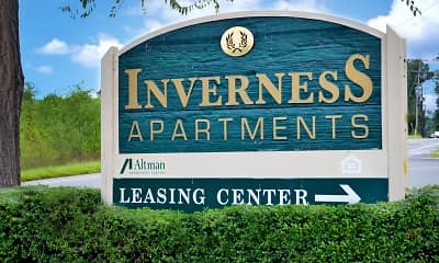 Community Signage, Inverness Apartments, 0