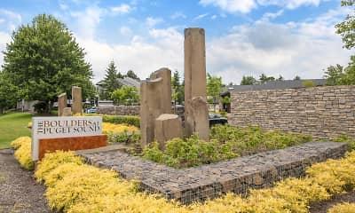 Community Signage, Boulders at Puget Sound, 2