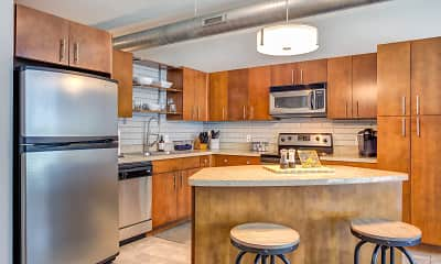 Kitchen, Lofts at the Highlands, 0
