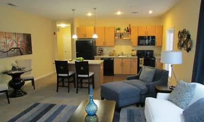 Living Room, Tara Heights Apartments, 1