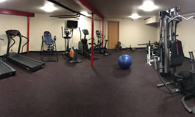 Fitness Weight Room, Carriage Way Apartments, 2