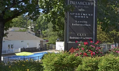 Community Signage, Briarcliff At West Hills Apartments of Knoxville, 2