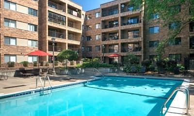 Pool, Plaza Apartments, 2