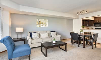 Living Room, Bass Lake Hills Townhomes, 1