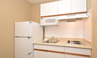 Kitchen, Furnished Studio - Washington, D.C. - Falls Church - Merrifield, 1