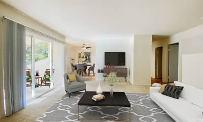 Living Room, Carriage House Apartments, 0