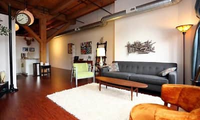Living Room, Lake Street Lofts, 1