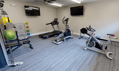 Fitness Weight Room, Timber Lake Apartments, 1