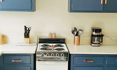 Kitchen, Highland Apartments, 1