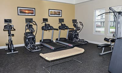 Fitness Weight Room, Union Square Apartments, 1