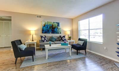 Living Room, Chester Place Apartments and Townhomes, 1