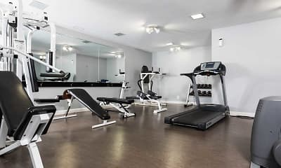 Fitness Weight Room, Sundance Apartments, 2