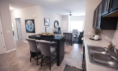 Dining Room, 3 Springs Apartments, 0