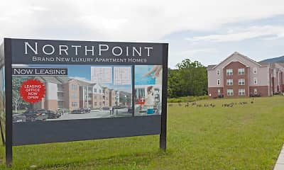 Community Signage, North Point Apartments, 2