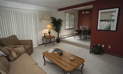 Living Room, Twin Lake North Apartments, 2