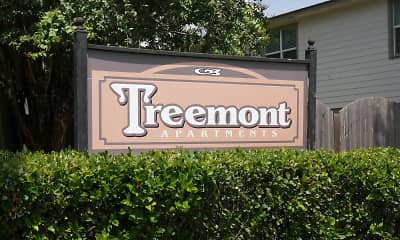 Community Signage, Treemont Apartments, 0