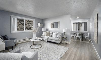 Living Room, Morton Meadows Apartments, 0