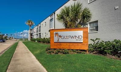 Community Signage, Gulfwind Apartments, 1