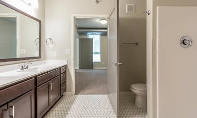 Bathroom, The Woodrow Apartments-Downtown Fargo, 1