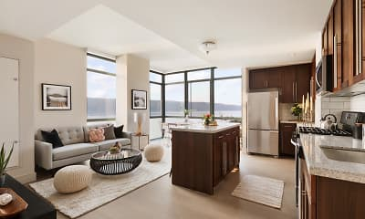 Living Room, River Club at Hudson Park, 1