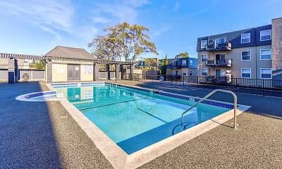 Pool, Skycrest Apartments, 1