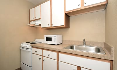 Kitchen, Furnished Studio - Dayton - South, 1