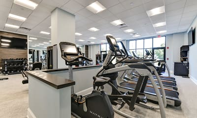 Fitness Weight Room, The Edge at Freehold, 2
